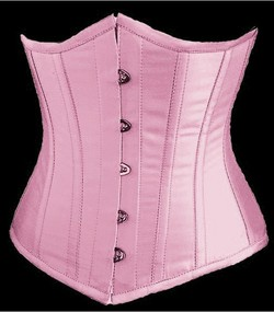 Pink Satin Cupless Boned Corset/Waist Cincer & G-String Set - S,M,L,XL